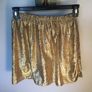 NWT Kenneth Cole Gold Skirt Size XS